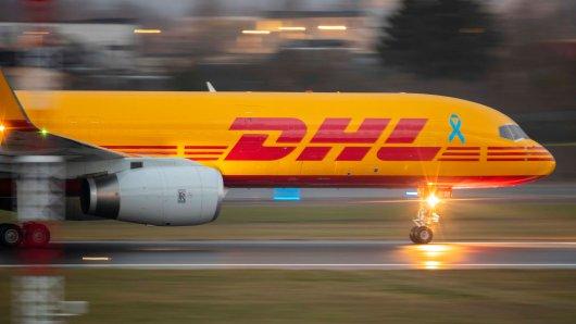 Am Flughafen Leipzig gab es große Probleme mit einem DHL-Flugzeug. (Archivbild)