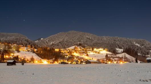 Schnee an Weihnachten gibt es meistens nur in den Bergen von Deutschland.