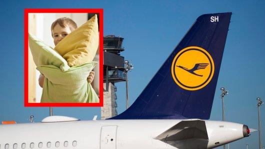 Ein Lufthansa-Kissen war das Ein und Alles des kleinen Jungen. (Symbolbild)