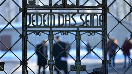 Das Lagertor der KZ-Gedenkstätte Buchenwald