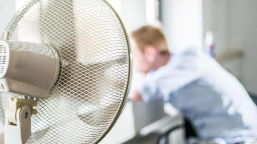 Da half selbst der Ventilator nichts mehr. Weil sich die Jalousien der Stadtverwalung nicht mehr schließen ließen, herrschte in den Räumen eine brütende Hitze. (Symbolbild)