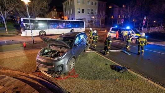 In Weimar kam es am Mittwochabend zu einem folgenschweren Unfall.