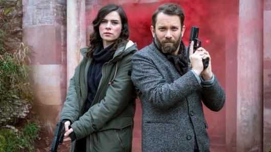 """Beim """"Tatort"""" Weimar ermittelten Kira Dorn (Nora Tschirner) und Lessing (Christian Ulmen) in elf Fällen."""