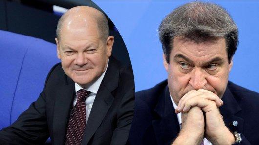Markus Söder zeigte Nerven beim Corona-Gipfel am Mittwoch. Er pflaumte Finanzminister Olaf Scholz an.
