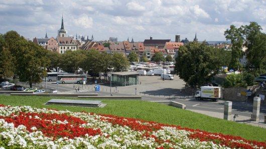 Das Wetter in Thüringen soll für zwei Tage grandios werden. Im Bild: Erfurt bei Sonnenschein.